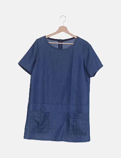 Camiseta denim azul oscuro