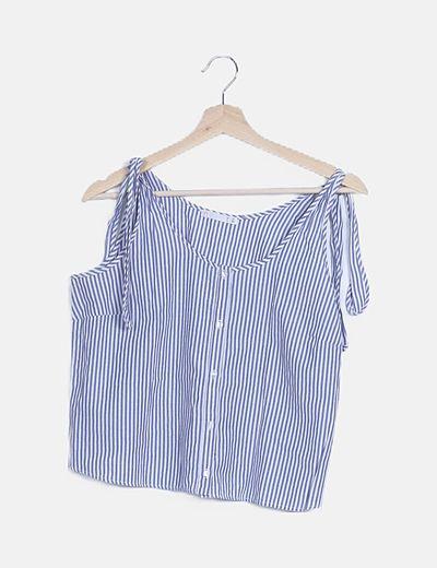 Camiseta rayas azules