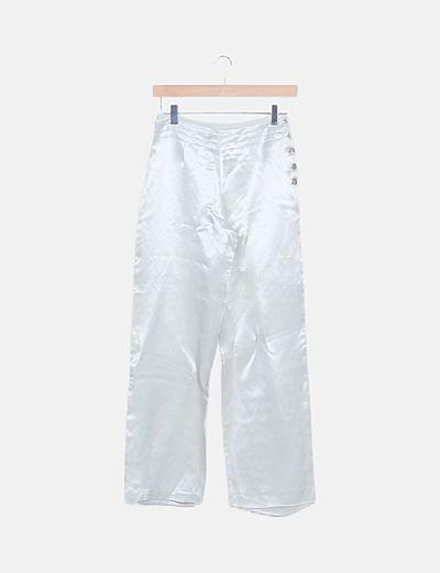 Pantalón gris satén fluido