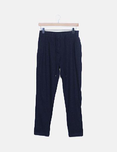 Pantalón deportivo azul marino jaspeado