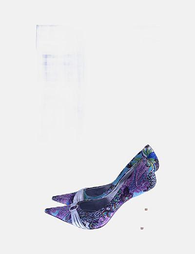 Zapato stiletto estampado