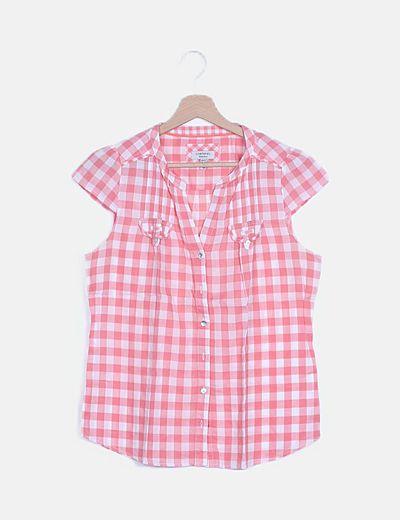 Camisa cuadros bicolor