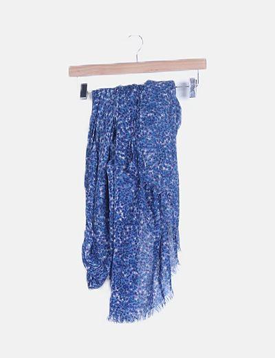 Foulard azul floral