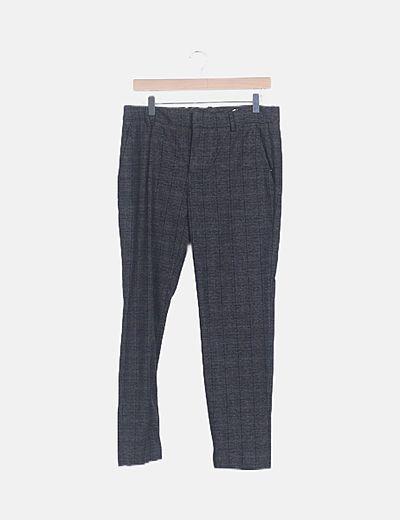 Pantalón chino gris marengo de cuadros