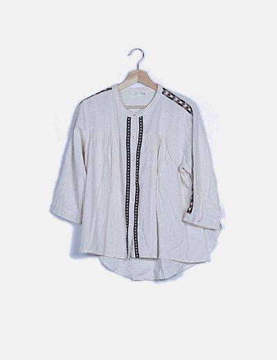 Camisa blanca bordados