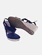 Sandalia tiras azul marino Laureana