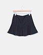 Mini falda godets negro evasé Zara