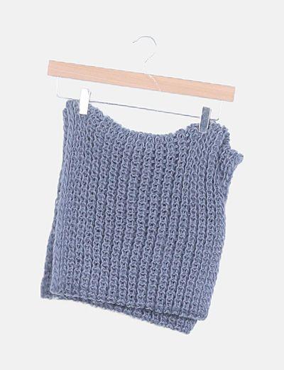 Cuello tricot gris