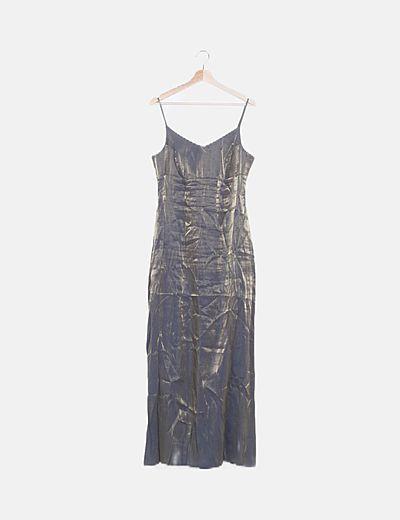 Vestido tirantes metalizado