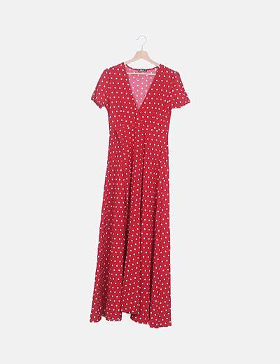 Vestido rojo topos