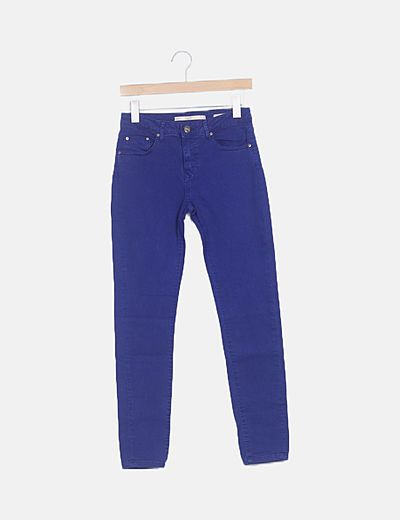 Jeans denim slim fit azul