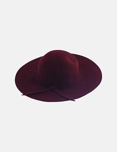 Sombrero fedora granate