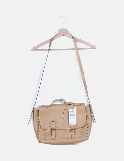 Bolso maletín beige