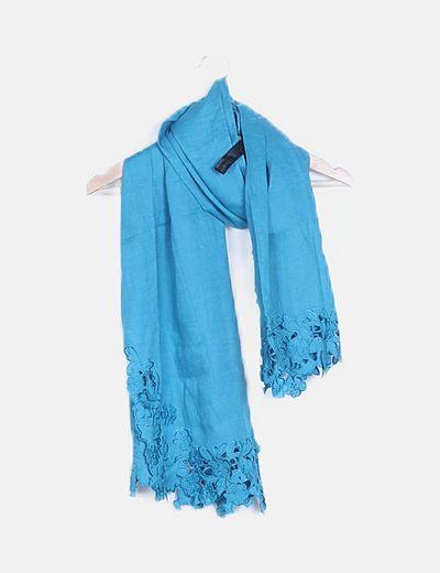 Foulard turquesa bordados