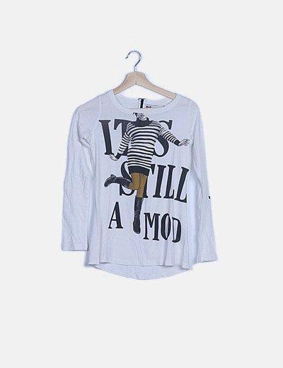 Camiseta blanca girl print
