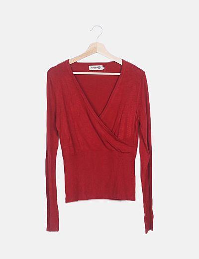 Jersey rojo cruzado