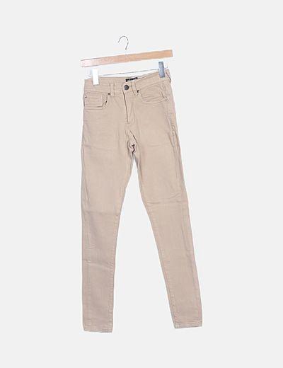 Jeans beige pitillos