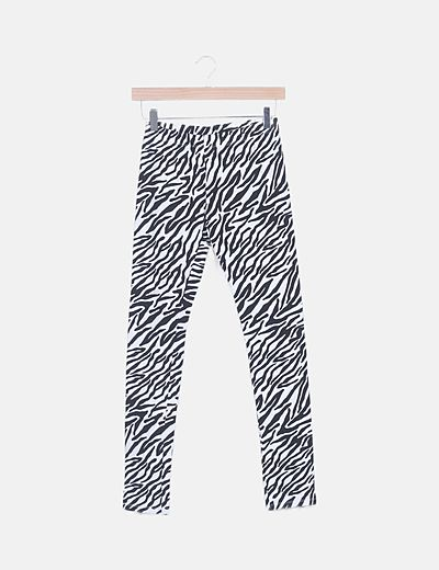 Leggin bicolor animal print
