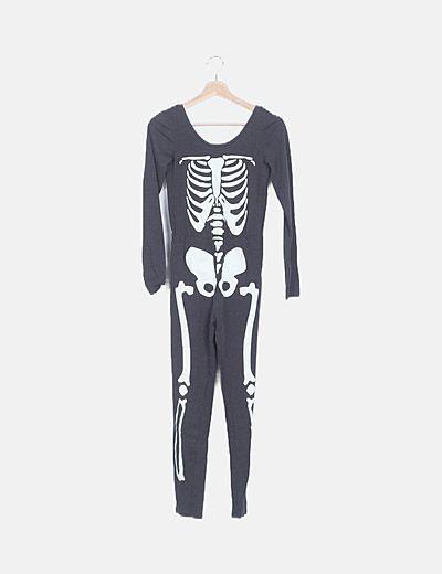 Mono gris print esqueleto