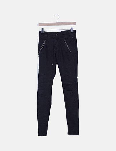 Jeans skinny denim negro