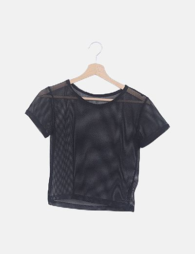 Camiseta troquelada negra