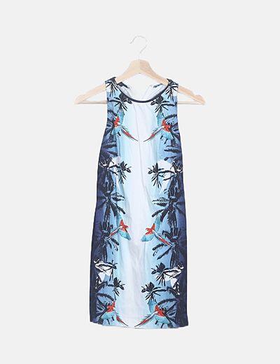 Vestido ceñido tropical