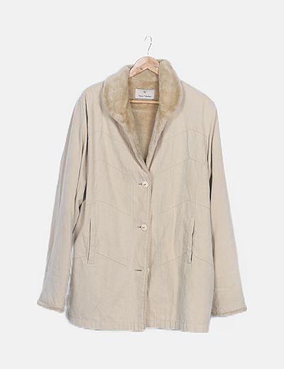 Abrigo beige doble faz