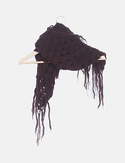 Poncho tricot marrón