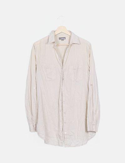 Camisa fluida beige