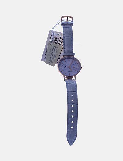 Reloj analógico azul
