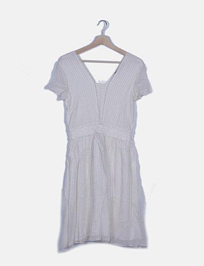 Vestido blanco rayas glitter
