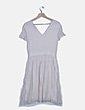 Vestido blanco rayas glitter Comptoir des Cotonniers