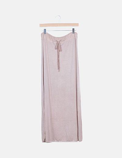 Falda fluida rosa