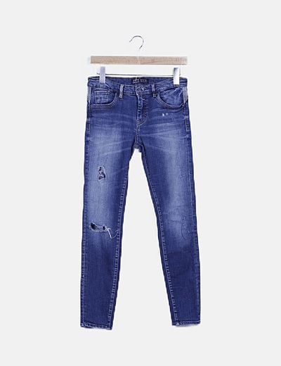 Jeans ripped denim