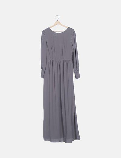 Vestido gasa gris