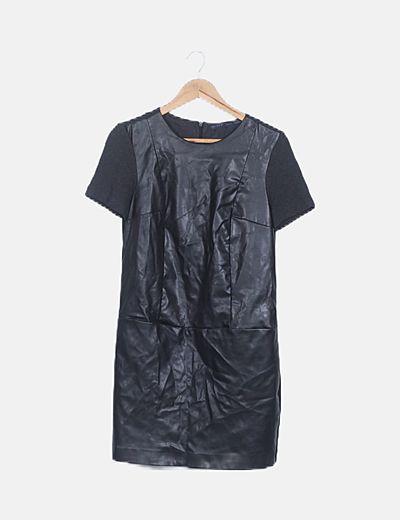 Vestido negro encerado