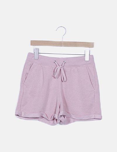 Short deportivo rosa