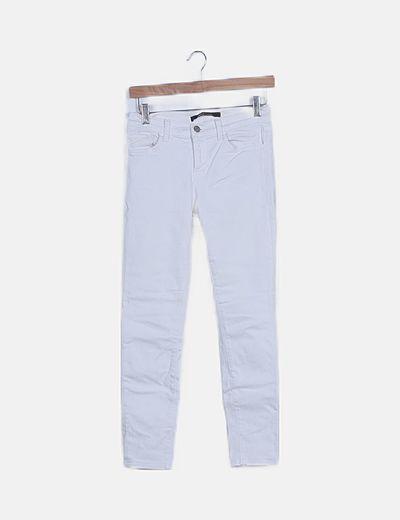 Jeans blancos pitillo