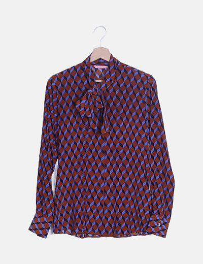 Camisa estampado geométrico lazo