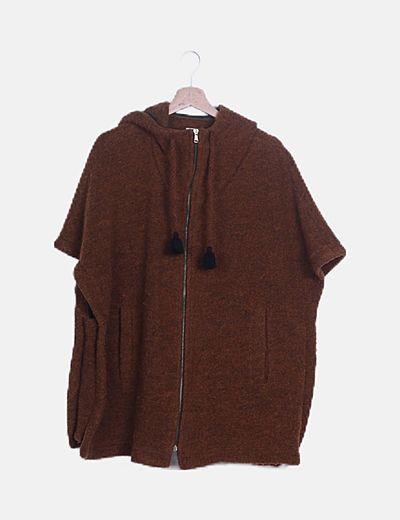 Poncho marrón jaspeado