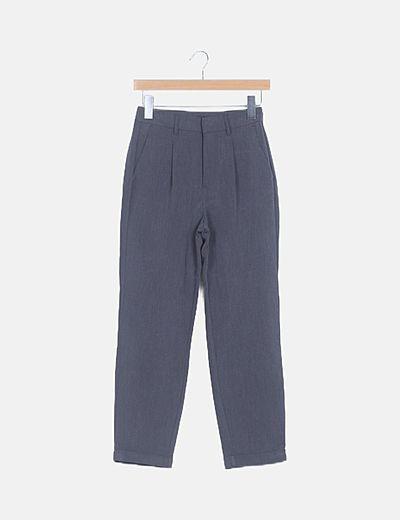 Pantalón fluido gris
