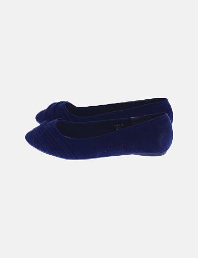 Bailarina antelina azul marino