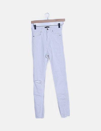 Jeans skinny blanco high waist