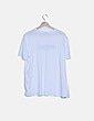Camiseta blanca print mensaje Zara