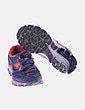 Zapatilla de correr gris y naranja Nike