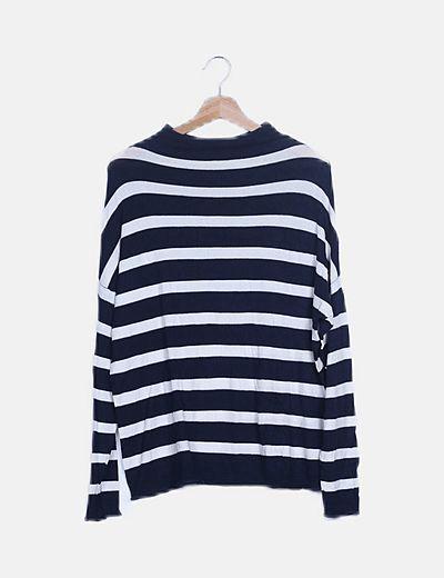 Jersey fino rayas azul y blanco