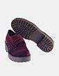 Zapato velvet granate de cordones NoName