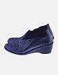 Zapato plateado con elástico Notton