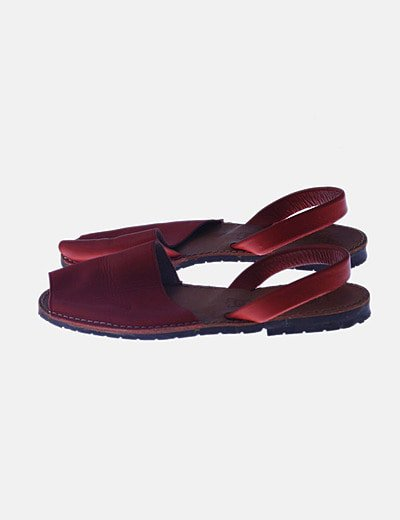 Sandalia menorquina roja