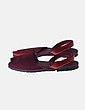 Sandalia menorquina roja Llonga's
